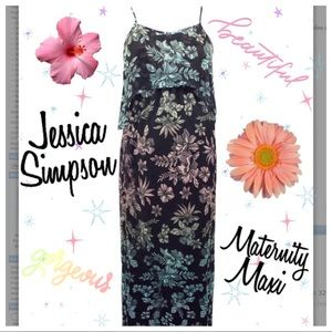 Jessica Simpson Maternity Floral Maxi Dress